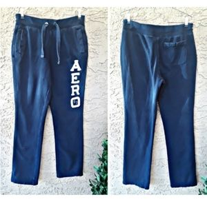 navy blue aeropostale sweatpants